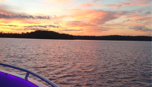 sunset cruise in minnesota